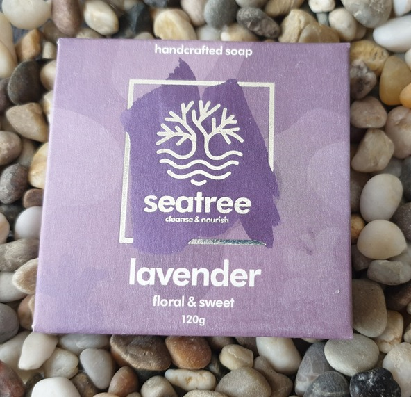 Seatree Cosmetics- 100% natural lavender soap handmade in devon