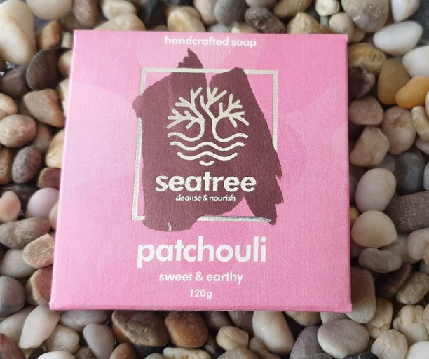 Seatree Cosmetics- 100% natural patchouli soap handmade in devon