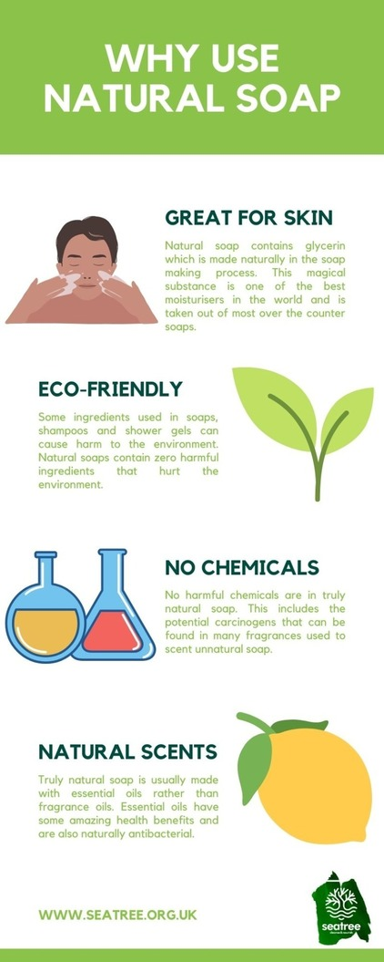 why us natural soap infographic