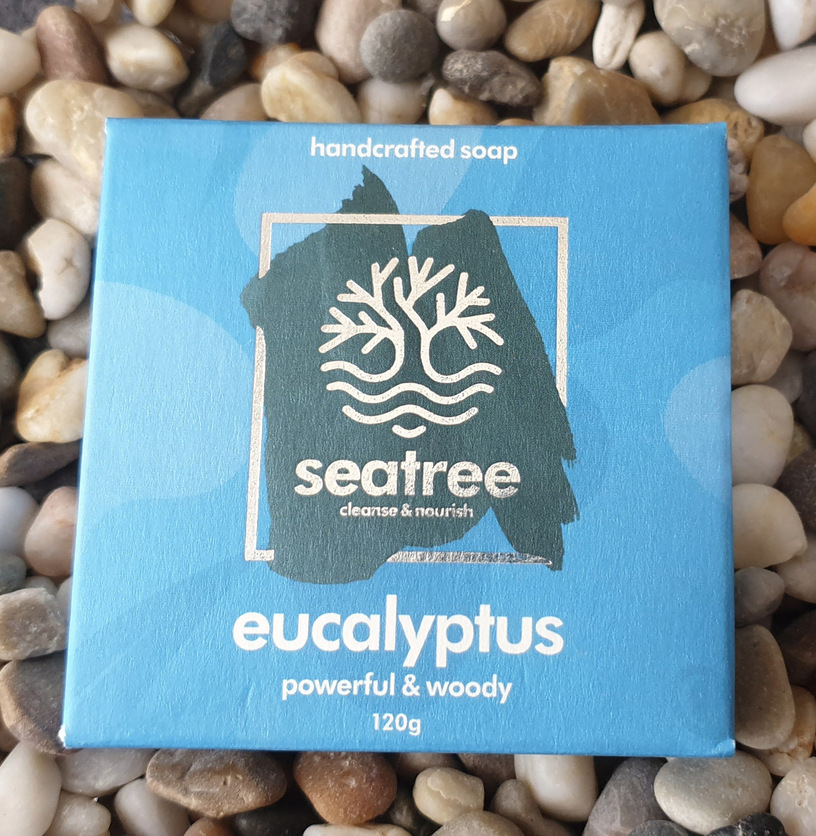 Seatree Cosmetics 100% natural eucalyptus soap handmade in devon