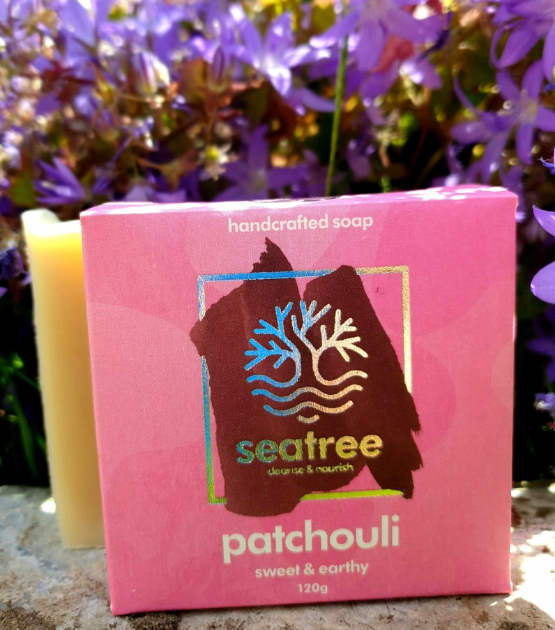 Seatree Cosmetics 100% natural patchouli soap handmade in devon